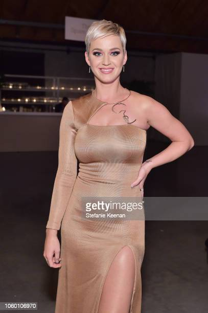Katy Perry poses at the 2018 Baby2Baby Gala Presented by Paul Mitchell at 3LABS on November 10 2018 in Culver City California