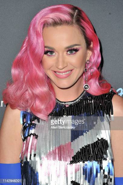 Katy Perry poses for a photo after ABC's American Idol live show on April 15 2019 in Los Angeles California