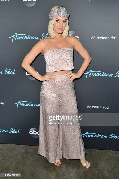 "Katy Perry poses for a photo after ABC's ""American Idol"" live show on April 28, 2019 in Los Angeles, California."
