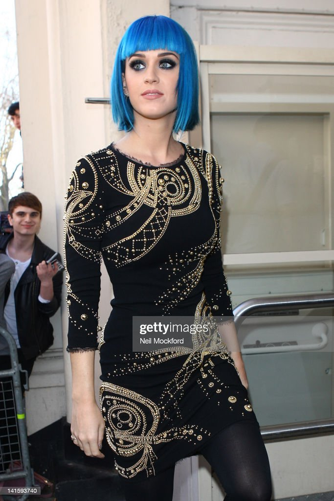 Katy Perry seen arriving at BBC Maida Vale Studios on March 19, 2012 in London, England.