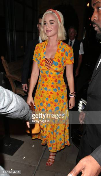 Katy Perry seen arriving at Ham Yard Hotel on August 28 2019 in London England