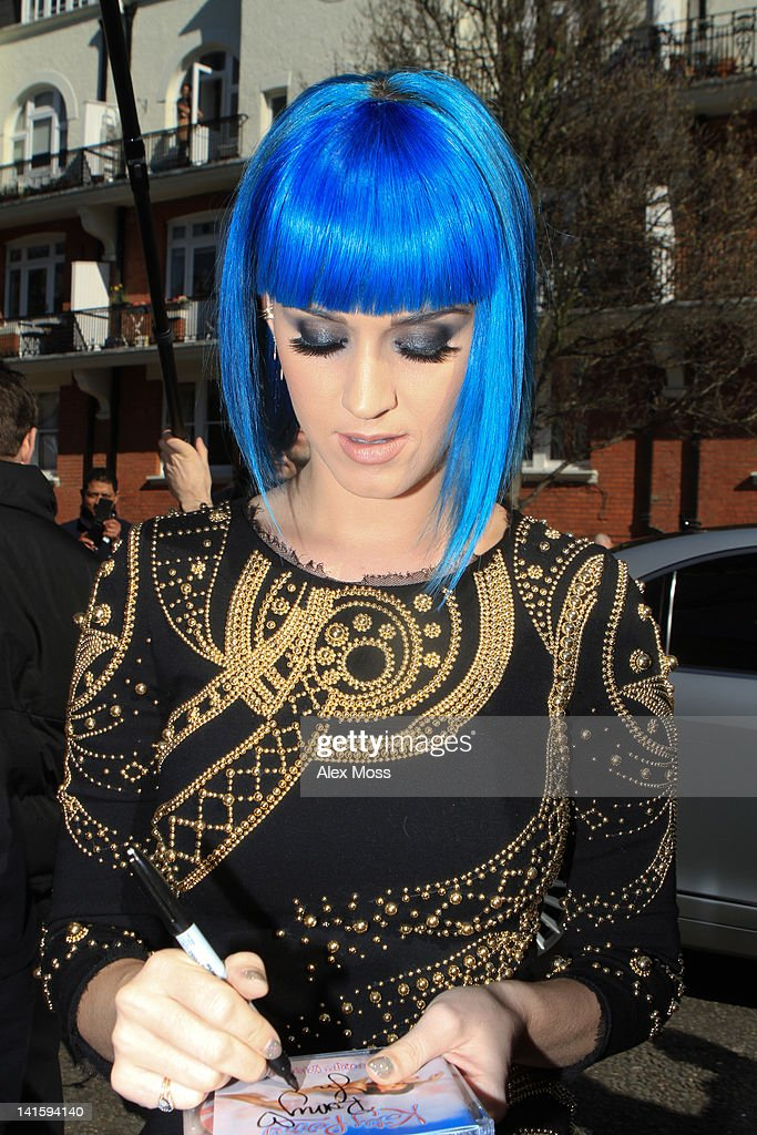 Katy Perry seen arriving at Maida Vale Studios on March 19, 2012 in London, England.
