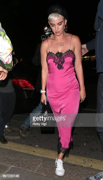 Katy Perry seen at Annabel's club on July 12 2018 in London England