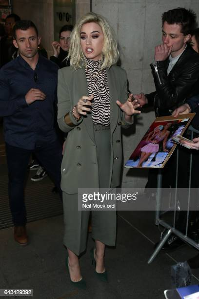 Katy Perry seen at BBC Radio One on February 21 2017 in London England