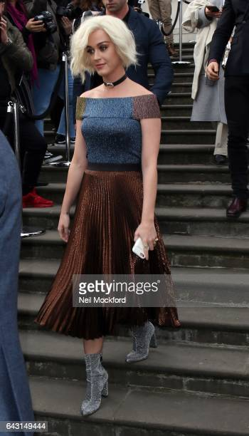 Katy Perry seen at Christopher Kane at Tate Britain on Day 4 of London Fashion Week February 2017 on February 20 2017 in London England