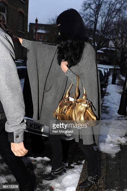 Katy Perry Sighted leaving his house on December 23 2009 in London England