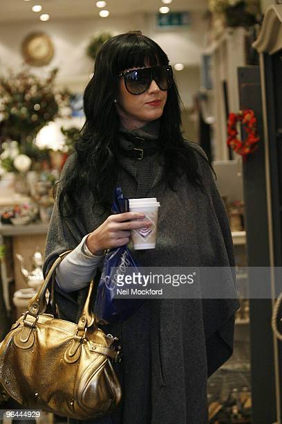 Katy Perry sighted showing off Her Engagement Ring whilst going for coffee and shopping on January 10 2010 in London England
