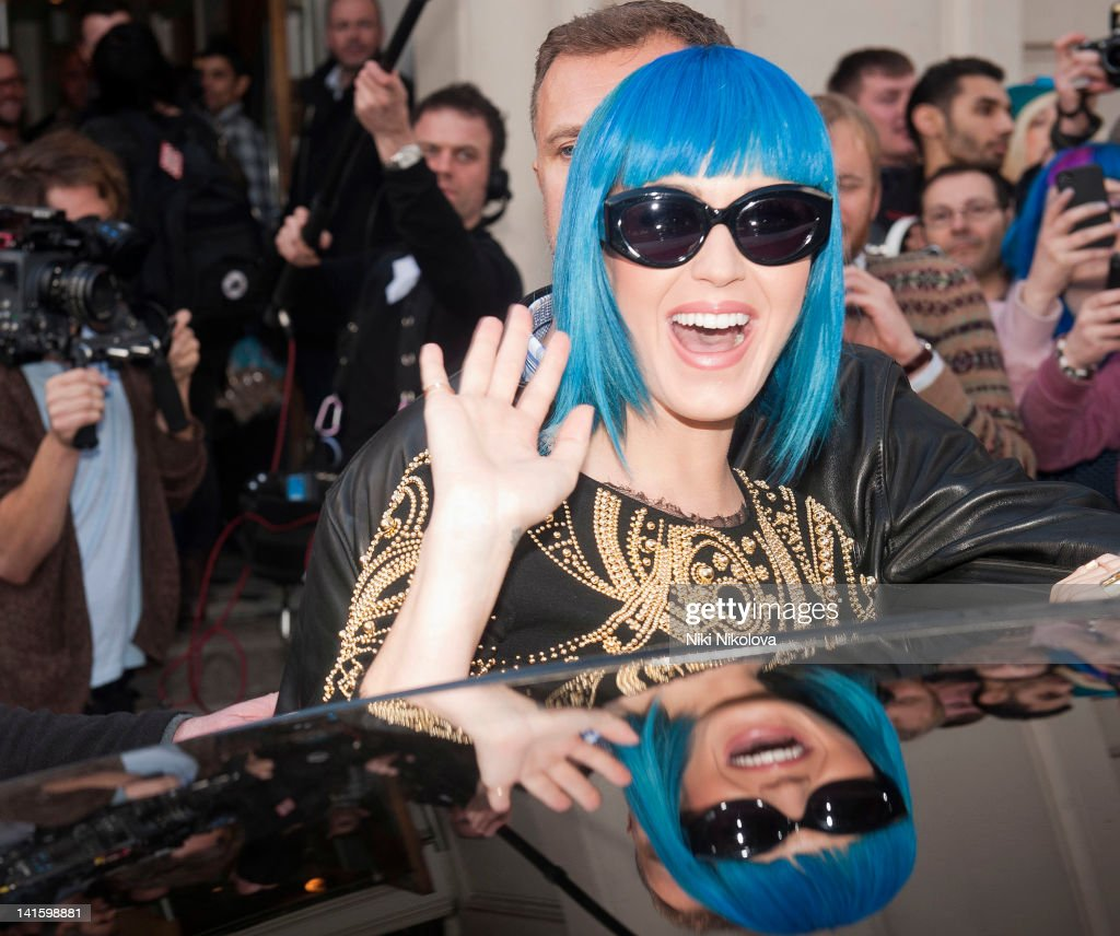 Katy Perry sighting on March 19, 2012 in London, England.