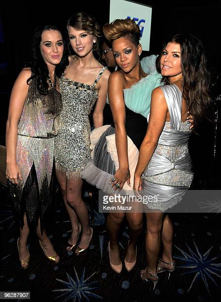Katy Perry Taylor Swift Rihanna and Fergie at the 52nd Annual GRAMMY Awards Salute To Icons Honoring Doug Morris held at The Beverly Hilton Hotel on...