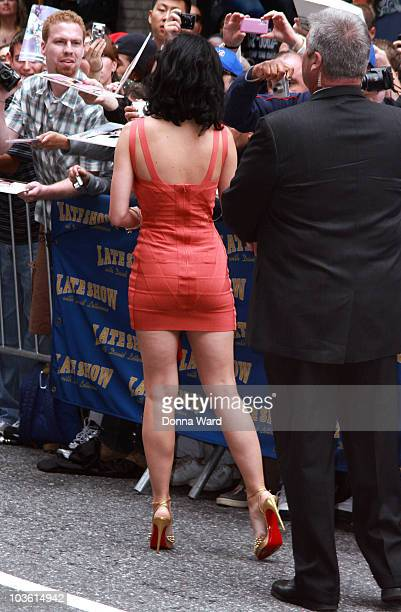 Katy Perry visits Late Show With David Letterman at the Ed Sullivan Theater on August 24 2010 in New York City