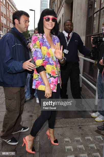 Katy Perry visits the BBC Radio One studios on June 10 2009 in London England