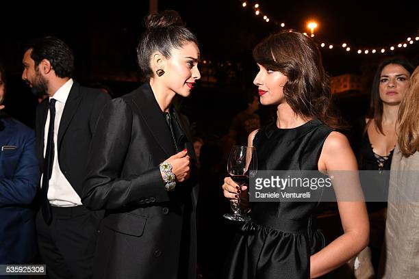 Katy Saunders and Stella Egitto attend Dsquared2 Dinner Party on May 30 2016 in Rome Italy