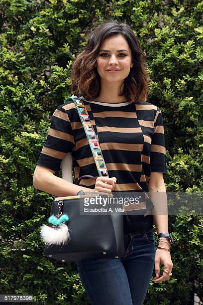 Katy Saunders attends a photocall for 'On Air Storia Di Un Successo' on March 29 2016 in Rome Italy