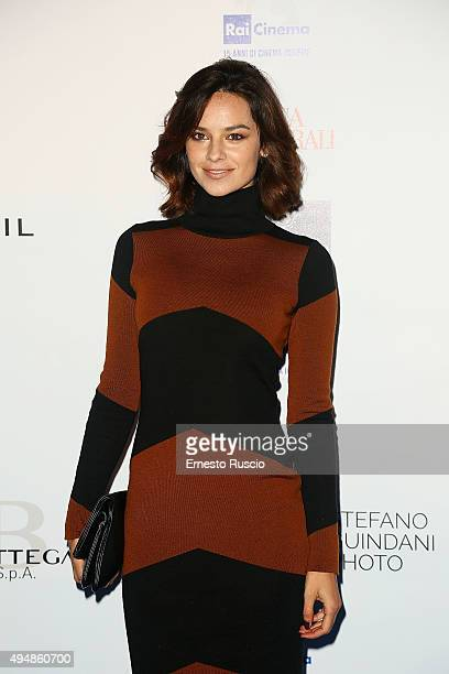 Katy Saunders attends a photocall for the 'RAI Cinema 15th Anniversary' on October 29 2015 in Rome Italy