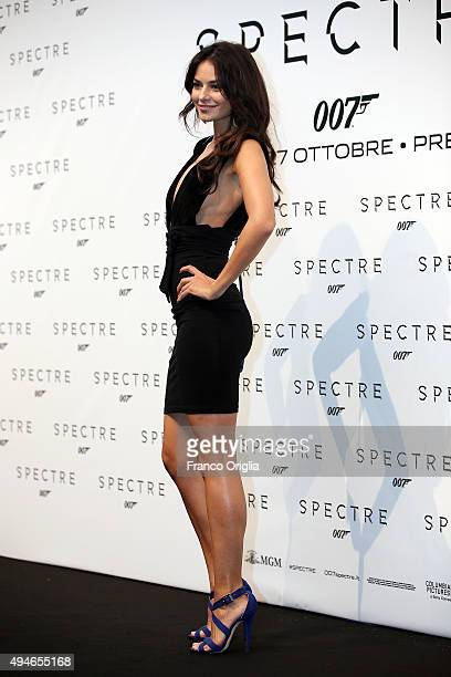 Katy Saunders attends a red carpet for 'Spectre' on October 27 2015 in Rome Italy