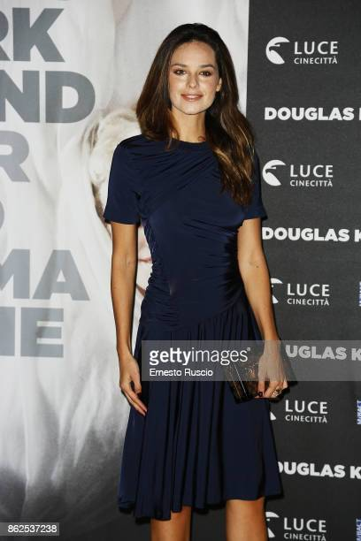 Katy Saunders attends 'Douglas Kirkland Fermo Immagine' exhibition opening at MAXXI Museum on October 17 2017 in Rome Italy