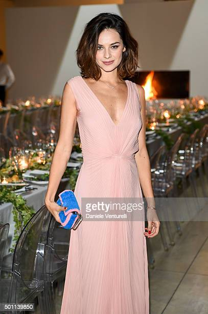 Katy Saunders attends Lampoon First Birthday Event on December 12 2015 in Milan Italy