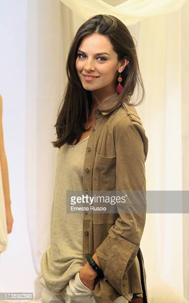 Katy Saunders attends Summer Cocktail at Stefanel flagship Store on May 3 2011 in Rome Italy