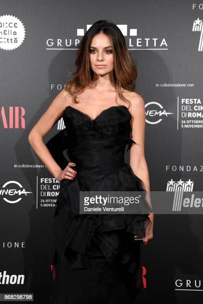 Katy Saunders attends Telethon Gala during the 12th Rome Film Fest at Villa Miani on October 30 2017 in Rome Italy