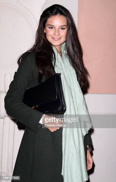 Katy Saunders attends the 'Furioso Orlando' theatre performance at Ambra Jovinelli on February 16, 2012 in Rome, Italy.