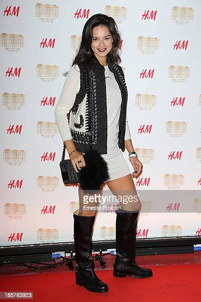 Katy Saunders attends the HM Flagship Store Opening at Via Del Corso on October 24 2013 in Rome Italy