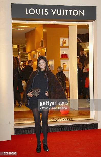 Katy Saunders attends the Maison Louis Vuitton Roma Etoile Cocktail red carpet on January 27 2012 in Rome Italy