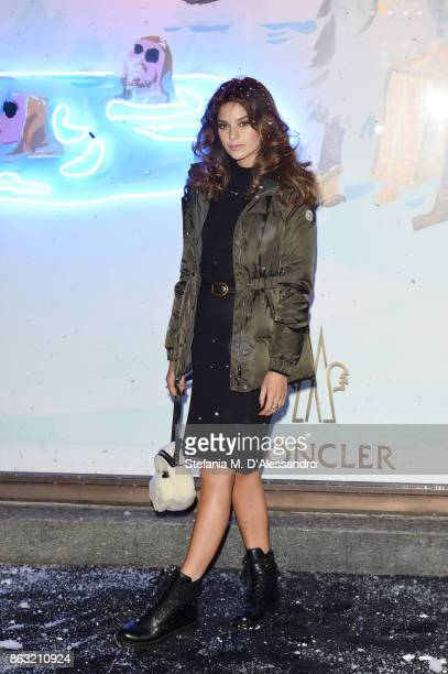 Katy Saunders attends the Moncler Flagship Store Opening Cocktail on October 19 2017 in Milan Italy