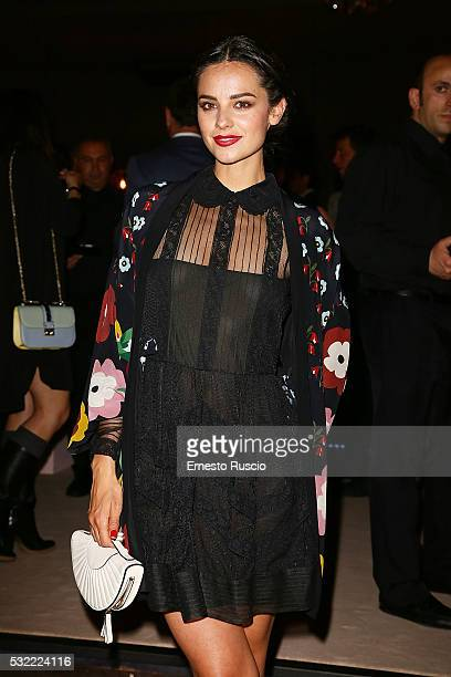 Katy Saunders attends the RED Valentino opening party at RED Valentino on May 18 2016 in Rome