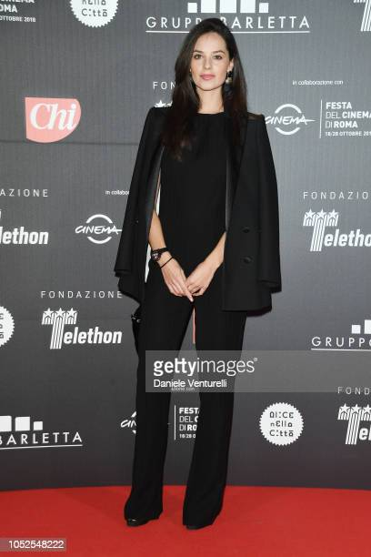 Katy Saunders attends the Telethon Gala during the 13th Rome Film Fest at Villa Miani on October 19 2018 in Rome Italy