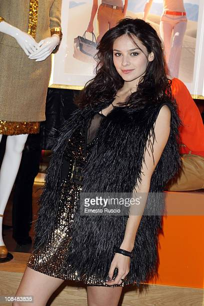 Katy Saunders attends the Tory Burch Flagship Store Opening at Via Del Babbuino on January 28 2011 in Rome Italy