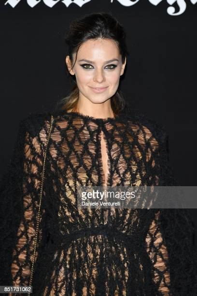 Katy Saunders attends theVogue Italia 'The New Beginning' Party during Milan Fashion Week Spring/Summer 2018 on September 22 2017 in Milan Italy
