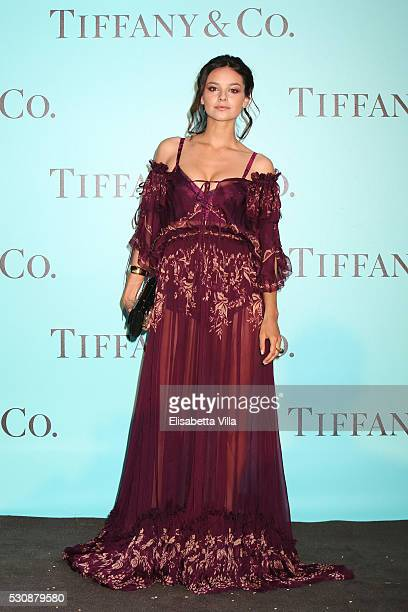 Katy Saunders attends Tiffany Co celebration of the opening of its new store in Rome at at Villa Aurelia on May 11 2016 in Rome Italy