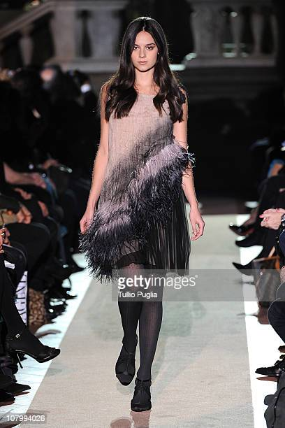 Katy Saunders the runway during the Alberta Ferretti fashion show during Pitti Immagine Uomo 79 on January 11 2011 in Florence Italy