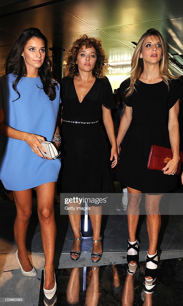 Katy Saunders,Valeria Golino and Nicoletta Romanoff attend the opening cocktail party of Excelsior Milano on September 6, 2011 in Milan, Italy.