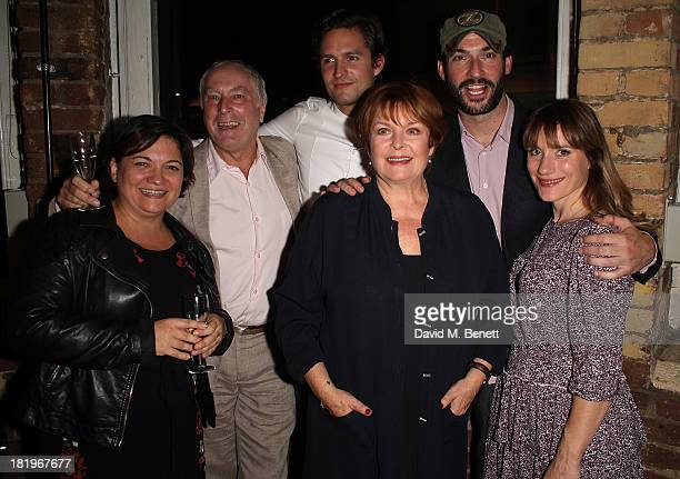 Katy Secombe Nicholas Day Ben Aldridge Isla Blair Tom Ellis charlotte Randle attend the press night after party following the performance of The...