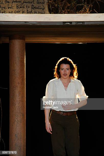Katy Stephens as Rosalind in a Royal Shakespeare Company production of William Shakespeare's play As You Like It at the Courtyard...
