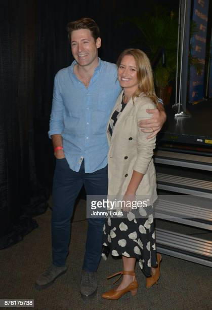 Katy Tur and husband Tony Dokoupil attend The Miami Book Fair at Miami Dade College Wolfson Chapman Conference Center on November 18 2017 in Miami...