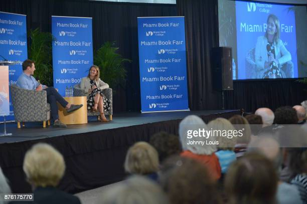 Katy Tur in conversation with husband Tony Dokoupil at The Miami Book Fair at Miami Dade College Wolfson Chapman Conference Center on November 18...