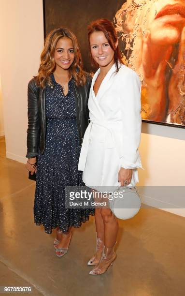 Katy Wickremesinghe and Claudia Lambeth attend the Grand Opening of JD Malat Gallery in Mayfair on June 5 2018 in London England