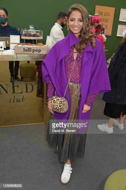 Katy Wickremesinghe attends Ned's Club Lounge at Frieze London Art Fair at Regent's Park on October 13, 2021 in London, England.