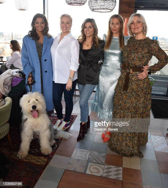 """Katy Wickremesinghe, Sarah-Jane Mee, Zoe Hardman, Laura Pradelska and Mika Simmons attend a live broadcast of """"The Happy Vagina"""" podcast at Treehouse..."""