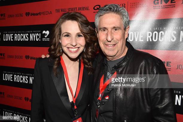 Katy Williamson and Richard Yulman attend the Love Rocks NYC PreConcert Cocktail at CESCA Restaurant on March 15 2018 in New York City