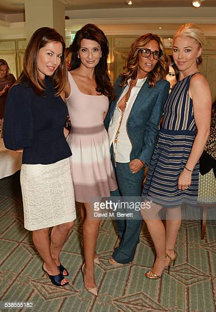 Katya Fomichev, Alessandra Vicedomini, Tara Bernerd and Tamara Beckwith attend a lunch hosted by Tamara Beckwith and Alessandra Vicedomini to...