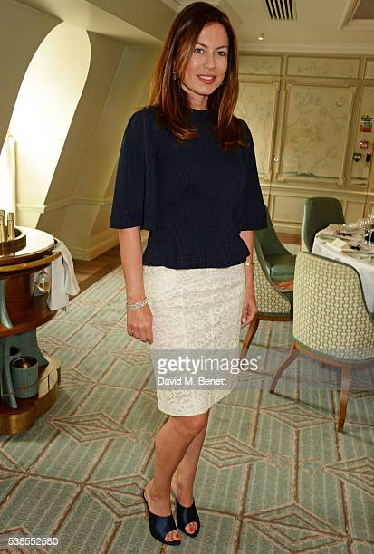 Katya Fomichev attends a lunch hosted by Tamara Beckwith and Alessandra Vicedomini to celebrate luxury fashion brand Vicedomini at Fortnum & Mason on...