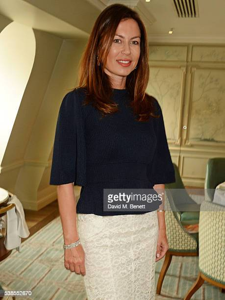 Katya Fomichev attends a lunch hosted by Tamara Beckwith and Alessandra Vicedomini to celebrate luxury fashion brand Vicedomini at Fortnum Mason on...