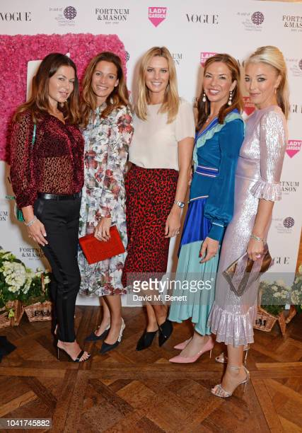 Katya Fomichev Julia Baumhoff Malin Jefferies Heather Kerzner and Tamara Beckwith attend the 5th annual Lady Garden lunch in support of the Silent No...