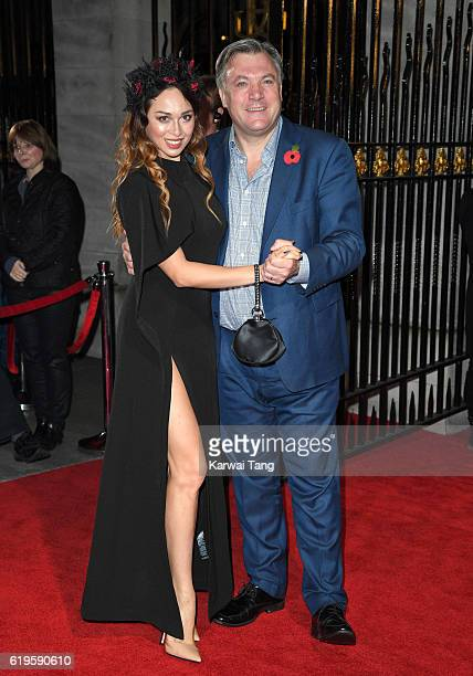 Katya Jones and Ed Balls attend the Pride Of Britain Awards at The Grosvenor House Hotel on October 31 2016 in London England