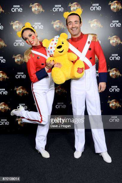 Katya Jones and Joe McFadden attend the Strictly Come Dancing for BBC Children in Need photocall at Elstree Studios on November 4 2017 in Borehamwood...