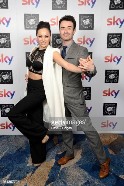Katya Jones and Joe McFadden attend the TRIC Awards 2018 held at The Grosvenor House Hotel on March 13 2018 in London England