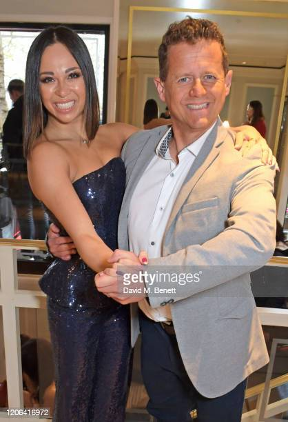 Katya Jones and Mike Bushell arrive at the TRIC Awards 2020 at The Grosvenor House Hotel on March 10 2020 in London England